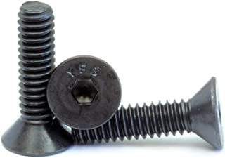 Hex Socket Drive 7//8 Length US Made 1//4-28 Thread Size Fully Threaded Pack of 100 1//4-28 Thread Size 7//8 Length Small Parts 1514CSFL Black Oxide Alloy Steel Flat Screw