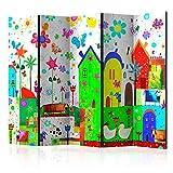 murando Biombo con Tablero de Corcho para Ninos 225x172 cm de Impresion Bilateral en el Lienzo de TNT Decoracion Foto Biombo de Madera con Imagen Impresa Home Office e-A-0104-z-c