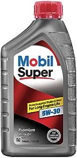 Mobil Super (120432-6PK 5W-30 Motor Oil - 1 Quart, (Pack of 6)