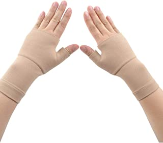 Compression Arthritis Gloves (1 Pair) for Carpal Tunnel, Computer Typing,Athletes/Sports Cycling,Play Tennis Basketball Wrist Pain and Fatigue, and Arthritis (Nude, XL)