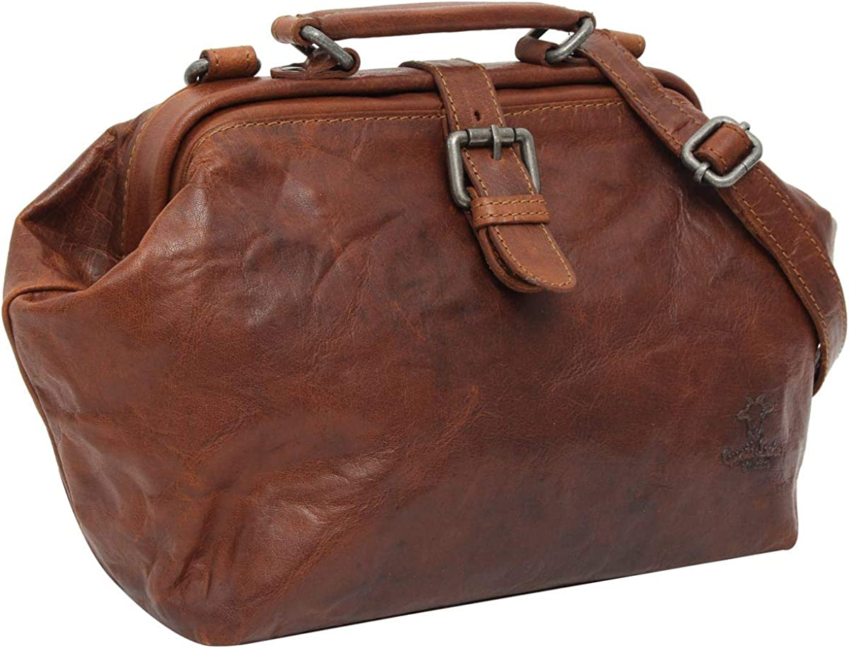 Gusti Vintage Brown Leather Handbag Ladies Purse true leather - Lillith