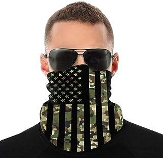American Flag Face Bandana Neck Gaiter, Summer UV Windproof Scarf Balaclava Headbands for Men Women