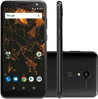 """Smartphone Quantum L, Preto, Android Oreo, Tela de 6"""", 16GB, 12MP"""