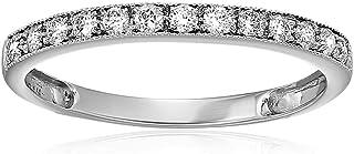 Vir Jewels 1/5 cttw Milgrain Diamond Wedding Band 14K White Gold Prong Set Round