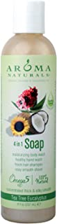 Aroma Naturals Extraordinary Natural 4-in-1 Castile Liquid Soap, Tea Tree Eucalyptus, 8 Ounce