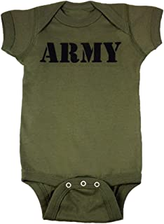 Baby Boys' Army Military Green Baby Bodysuit