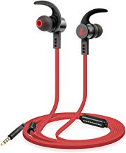 Listenman in-Ear Noise Cancelling Headphones, Wired Earphones in Ear Corded Earbuds with Built-in Microphone-B11 Red