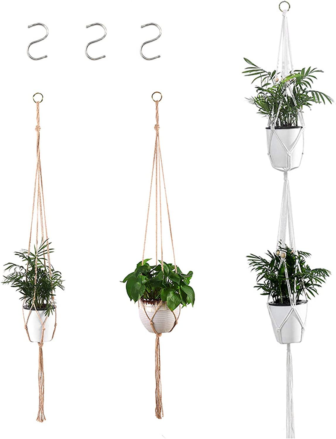 Hanging Plants for Bedroom Decor Indoor Hanging Planters,Hanging Planters  Macrame Boho Chic Cotton Rope,20Pcs Hanging Pot Holder for Indoor and  Outdoor ...