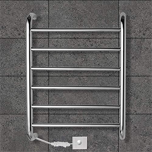 HXCD Rieles de toallero con calefacción Calentador de Toallas, Calentador de Toallas, Calentador de Toallas con calefacción eléctrica Radiador Ahorro de energía Montado en la Pared 60 W con 6 Bar