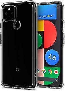 Spigen Google Pixel 4a 5G ケース バンパー クリア 透明 米軍MIL規格取得 耐衝撃 カメラ保護 液晶 保護 衝撃吸収 Qi充電 ワイヤレス充電 ウルトラ・ハイブリッド ACS01881 (クリスタル・クリア)