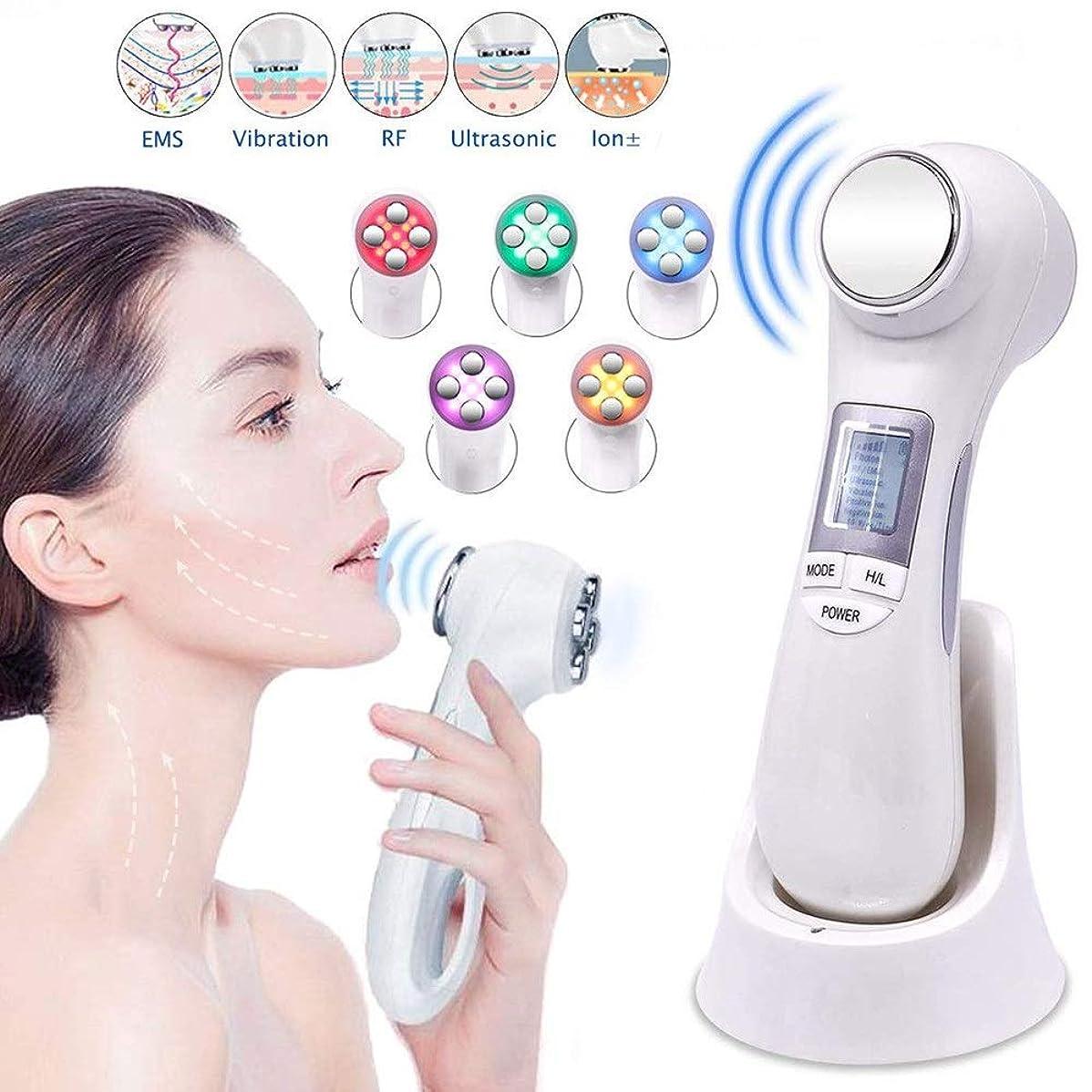 余韻投げるコストスキンケアのための5つの色LEDライト療法が付いている1つの高い出現の顔の持ち上がる機械EMS RFメッセージに付き機械6つをきつく締めること