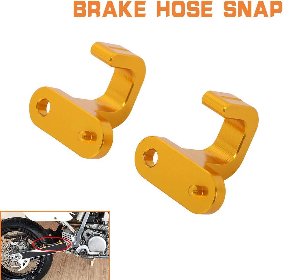 Motorcycle Brake Hose Snap CNC for Suzuki DR650SE 96-19 RM125 RM250 96-08 DRZ400 00-04 DRZ400E 00-07 DRZ400S 00-19 DRZ250 01-07 RM250Z 01-14 DL1000 02-12 DL650 04-06 DRZ400SM 05-19 RM-Z450 05-14 Blue