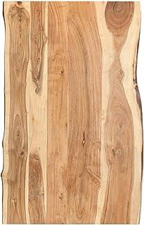 vidaXL Bois d'Acacia Massif Dessus de Table Plateau de Table de Salle à Manger Tablette de Table à Dîner Dessus de Table d...