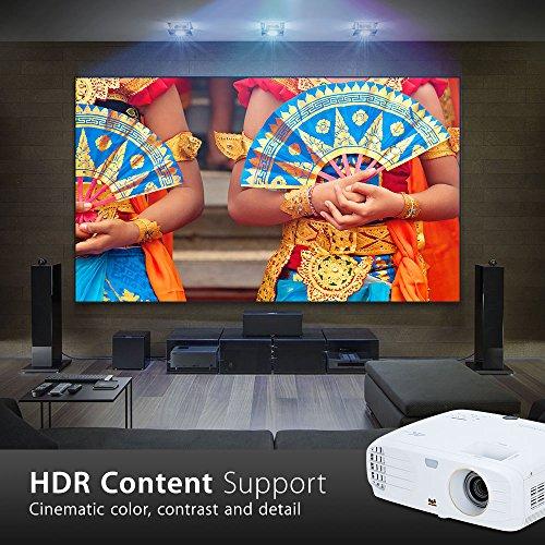 ViewSonic PX747-4K Proyector Cine en casa 4K UHD (3500 lúmenes, HDMI, HDR, Altavoces)- Blanco