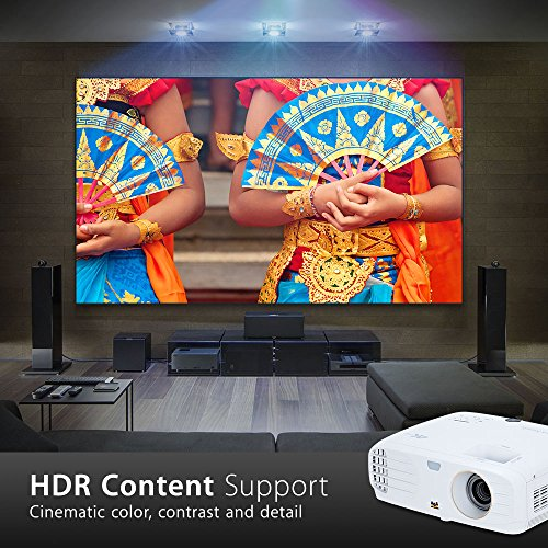 ViewSonic True 4K Projector with 3500 Lumens HDR Support and Dual HDMI for Home Theater Day and Night, Stream Netflix with Dongle (PX747-4K)