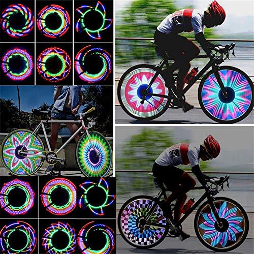 SHARRA Fahrradfelgenlichter, Fahrradräder Beleuchten wasserdichte Speichenlichter Fahrrad Led mit 32 LED und 32 PC- Änderungsmustern für MTB-Radreifen