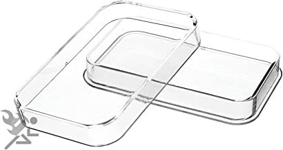 5oz Silver Bar Direct Fit Air-Tite Brand Capsule Holders, 2 Pack