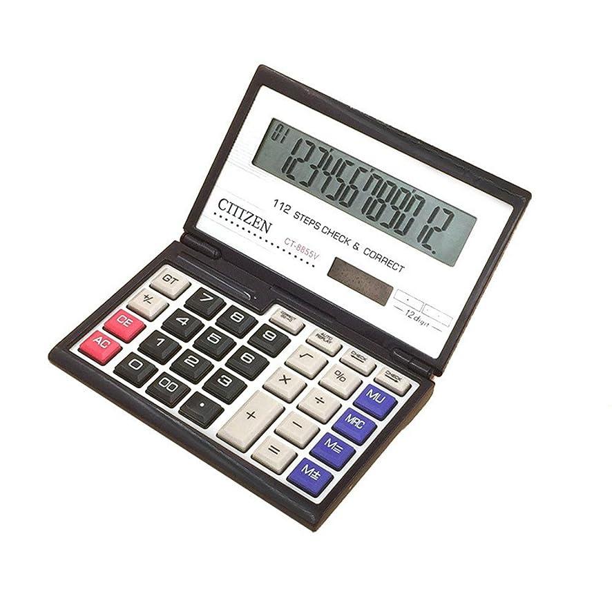 シェルターすべてスロットstudyset金融電卓12桁ソーラーバッテリーポータブル折りたたみ式デスクトップ電卓Office Supplies