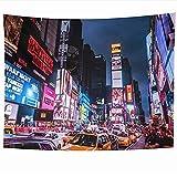 Tapices para colgar en la pared Times Time Square Nueva York 5 de agosto Lugares emblemáticos United Traffic Manhattan Parques Tapiz ocupado al aire libre Manta de pared Decoración del hogar Sala de e