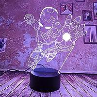 ナイトライト3D、ナイトランプ7色の変更クールクールMn Uto GrdientキッドXmのためのおもちゃ誕生日クリスマス最高の贈り物