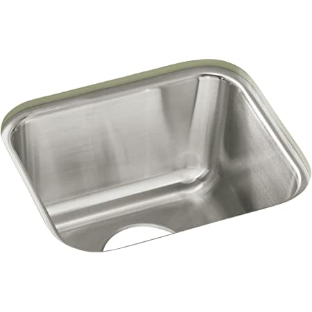Sterling Ucl1515 Springdale 14 Inch By 12 Inch Under Mount Single Bowl Bar Sink Stainless Steel