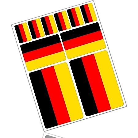 Deutschland Deutsche Flagge Deutschland 50mm Auto Motorrad Aufkleber X4 Vinyl Stickers Garten