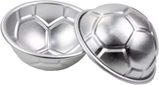 2 Pieces Football Soccer Ball Cake Baking Mold World Cup Football Themed Cake Chocolate Budding Jelly Mold Size 7 CM