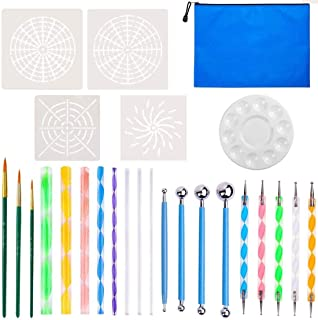 Mandala Dotting Tools, DELFINO 26 Pieces Mandala Dotting Tools Kit for Rocks Different Size Painting Tools, Kids' Crafts, ...