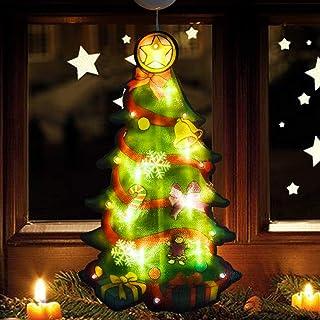 decorazione da appendere per interni ed esterni porta JaosWish feste decorazione da parete vacanze Striscione natalizio con scritta Merry Christmas per casa
