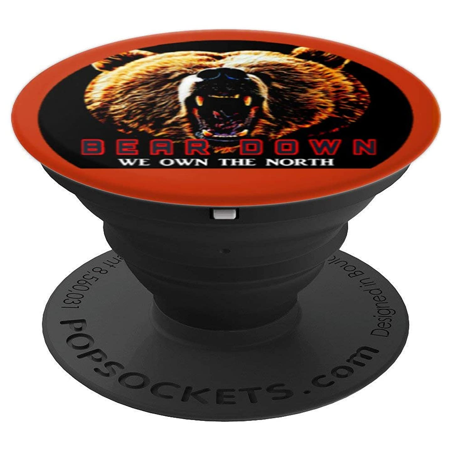 Bear Down Chi-Town Bears Football Orange Black Phone Mount - PopSockets Grip and Stand for Phones and Tablets
