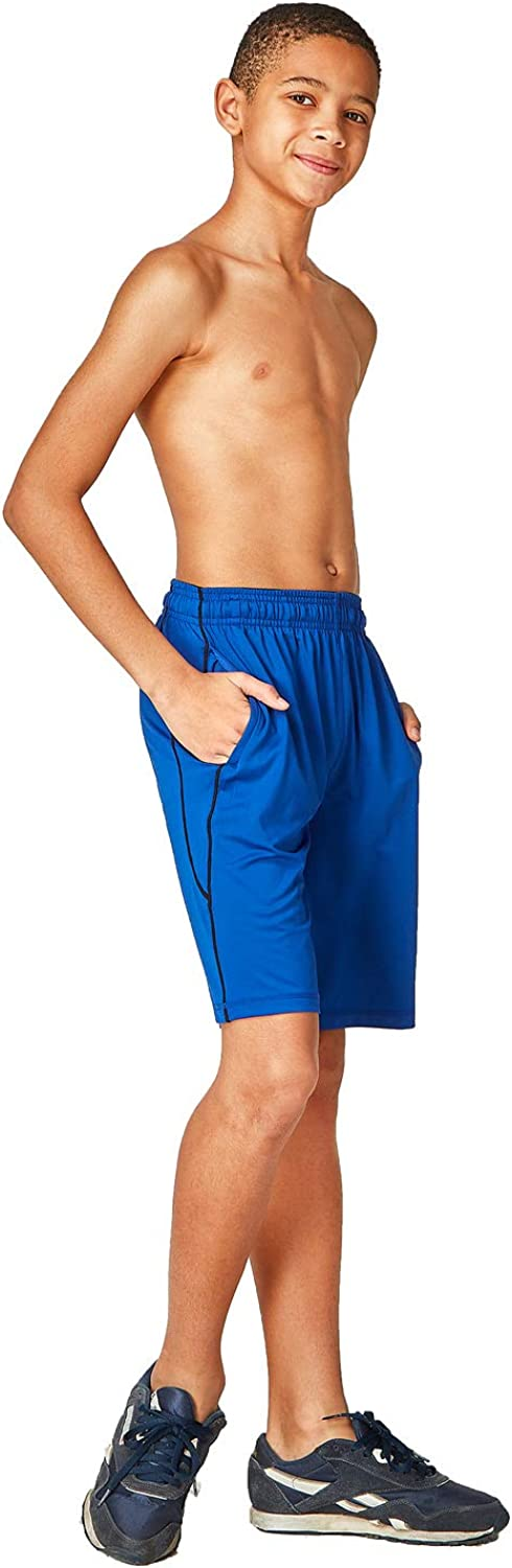 DEVOPS Boys 2-Pack Active Athletic Basketball Shorts with Pockets : Sports & Outdoors