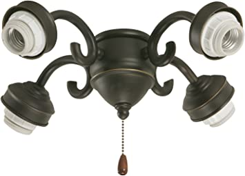 Emerson Ceiling Fans F490orb 4 Light Transitional Fitter In Oil Rubbed Bronze Ceiling Pendant Fixtures Amazon Com