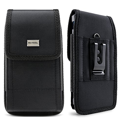 Evocel [Urban Pouch] Tactical Carrier with [Belt Loop & Holster] (6.1 in x 3.1 in x 0.37 in) Fits Galaxy J7, Galaxy S7/ S6/ S5 Active, LG K20 Plus, LG Stylo 3, HTC U11, T-Mobile REVVL, More, Large