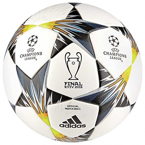 adidas Fußball Ball Finale Kiev OMB Ball, White/Black/SYELLO/Bl, 5, CF1203