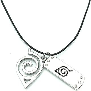 Naruto Necklace Leaf Necklace Leaf Village Symbol Logo Double Brand Pendant Necklace