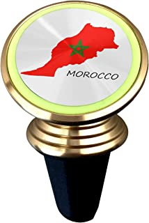 Morocco Flag Map Magnetic Car Holder Rotation Universal 360 Degree Rotating Car Phone Support Air Vent Phone Holder