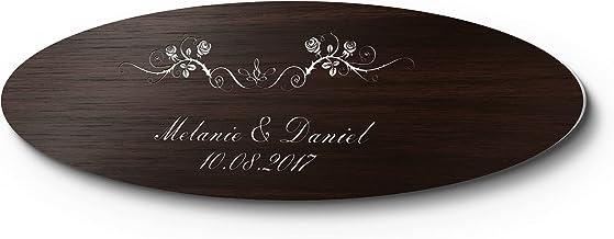 Bruiloftbordje kunststof houtlook met naam of spreuk | persoonlijk cadeau voor de bruiloft | weerbestendig voor de bruilof...