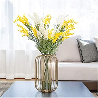 Flowers Vase Tall Clear Glass Cylinder Vase for Wedding Table Centrepieces Tabletop Arrangements (with Dried Flowers) Flow...