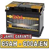 BSA BATTERY HIGH QUALITY BATTERIES Autobatterie 65Ah Starterbatterie ersetzt 60Ah 61Ah 63Ah 62Ah 64Ah Batterie