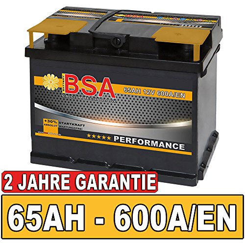BSA BATTERY HIGH QUALITY BATTERIES Autobatterie 65Ah Starterbatterie ersetzt 60Ah 61Ah 63Ah 62Ah 64Ah Batterie