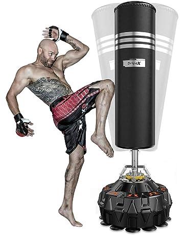 Musculation FBSPORT Gobelet Gonflable de Colonne de Boxe Sacs de Boxe dentra/înement Lourds de 160 cm p/éage de Sac de Boxe de Boxe sur pi/édestal avec Pompe /à Pied pour soulager la Pression