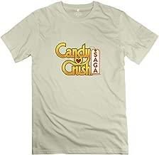 pat11cia Candy Crush Saga Unique 100% Cotton T Shirt for Guys