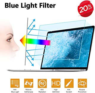 2PC 15.6 in Anti Blue Light Laptop Screen Protector, Anti Glare Filter Film Eye Protection Blue Light Blocking Screen Protector for 15.6