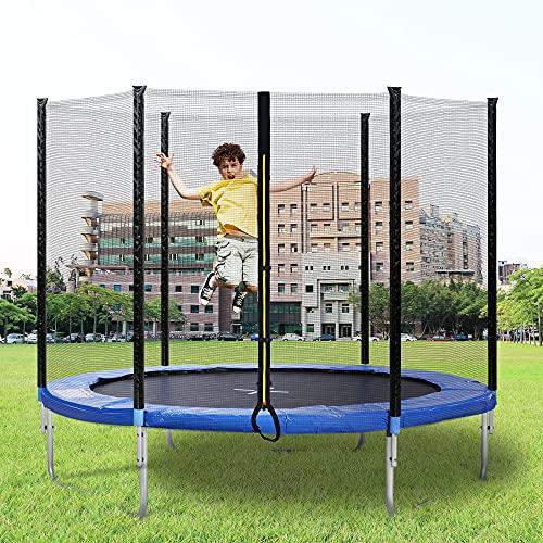 Bilivry Cama Elástica - Cama Elastica Exterior,Trampolín de 244 cm Cama elástica con Red de Seguridad + Funda Protectora + Gancho, Deporte Exterior jardín