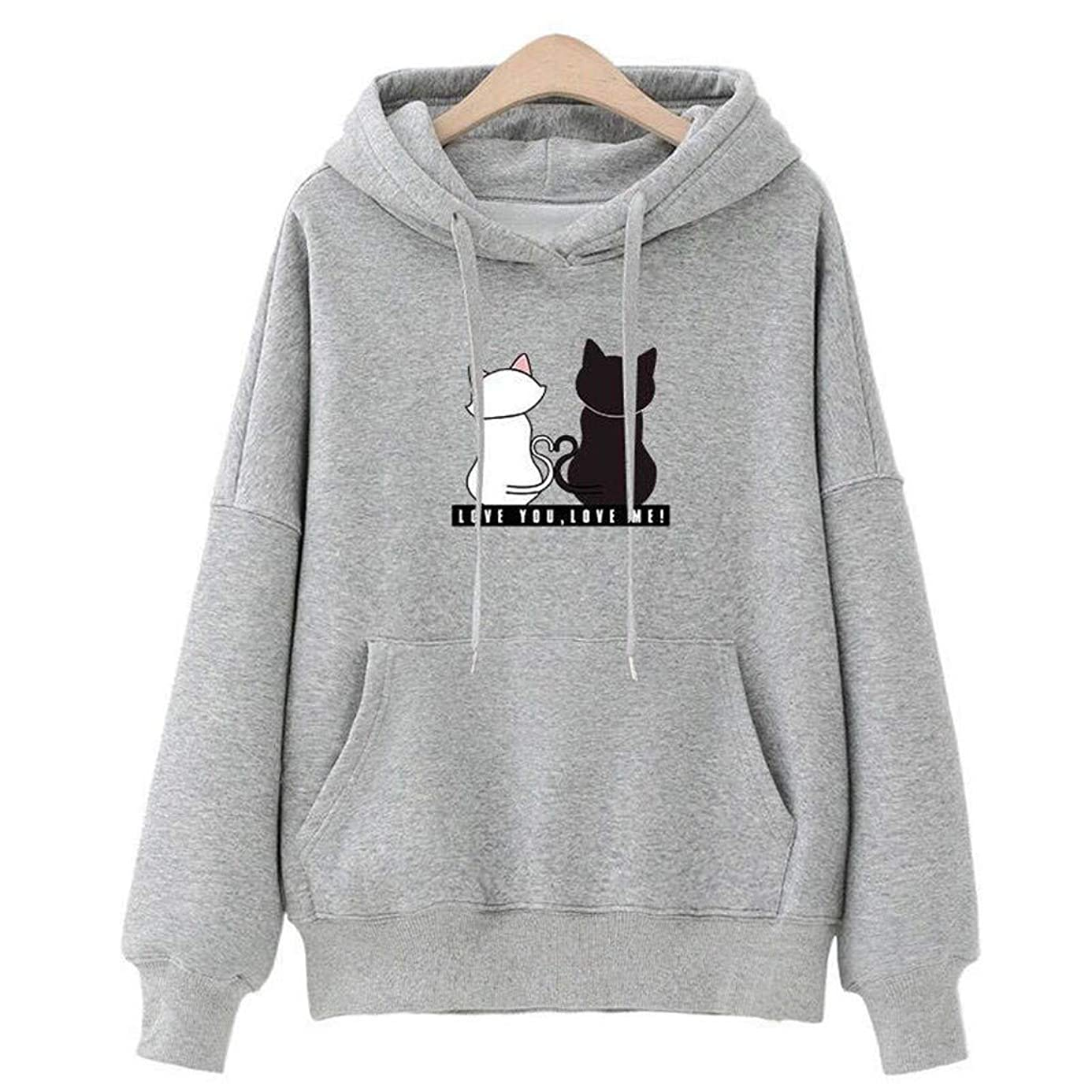 Gyouanime Hoodies Sweater Women Baggy Cat Jumper Pullover Tops Pullover Jumper Sweatshirts Jackets Coats