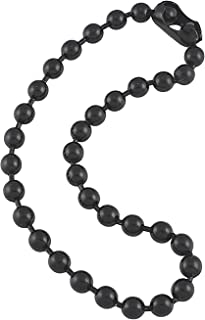 9.5mm Extra Large Gunmetal Steel Ball Chain Mens Necklace with Extra Durable Finish - Any Length