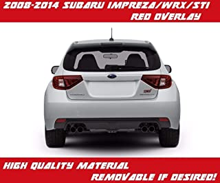 V3 Transparent Red Tail Light Overlay Vinyl for 2009-2014 Subaru Impreza WRX STI