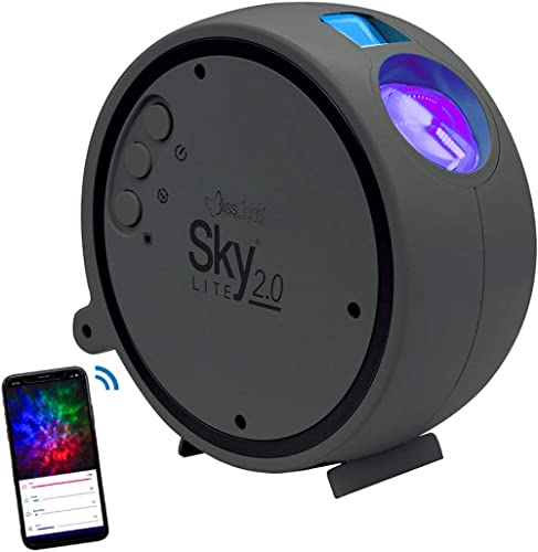 BlissLights Sky Lite 2.0 - RGB LED Laser Star Projector, Galaxy Lighting, Nebula Lamp (Blue Stars, Smart App)
