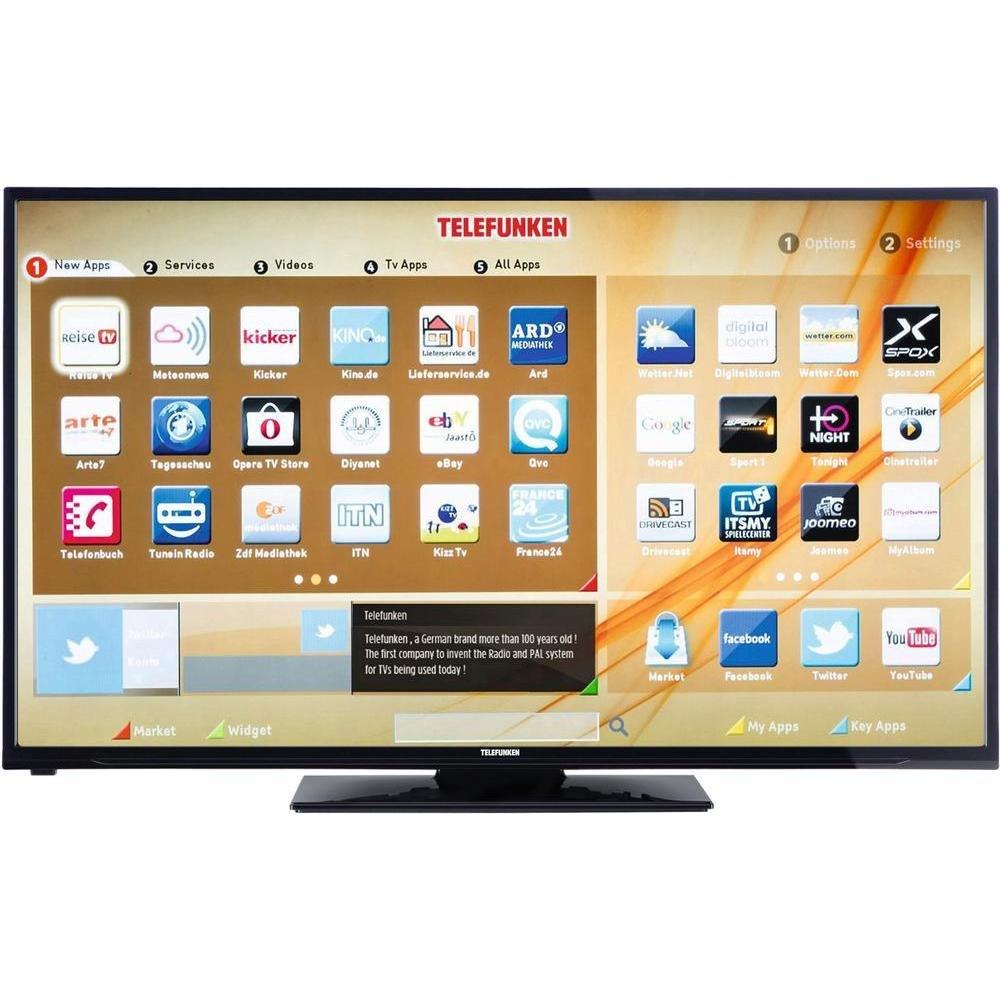 Telefunken LED-TV 127 cm 50 Zoll A50F446A EEK A+ DVB-T2, DVB-C, DVB-S, Full HD, Smart TV, WLAN, CI+: Amazon.es: Electrónica