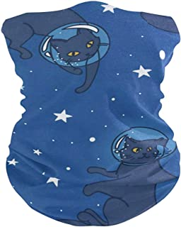 Cosmic Doodle Cat-Astronauts Balaclava Womens Headband Scarf Mens Bandana,Muffler,Neck Gaiter,Magic,Aliceband Helmet Liner